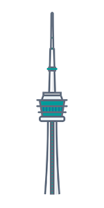 Toronto-CN-Tower-green-blue