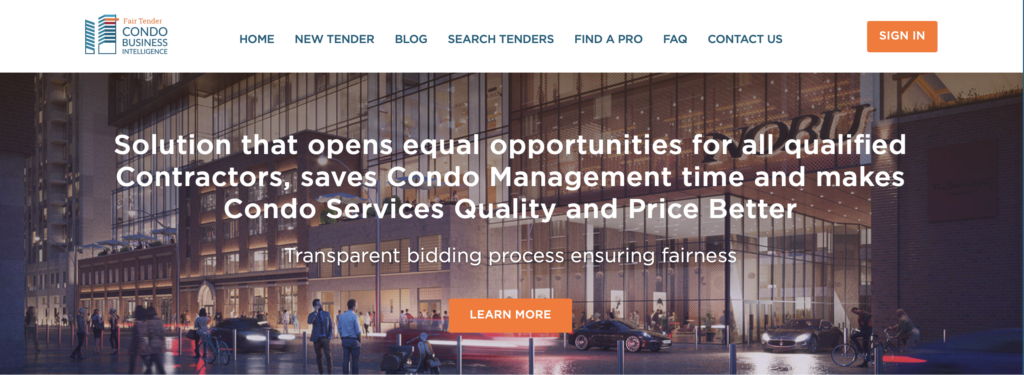 Condo Fair Tender In Toronto