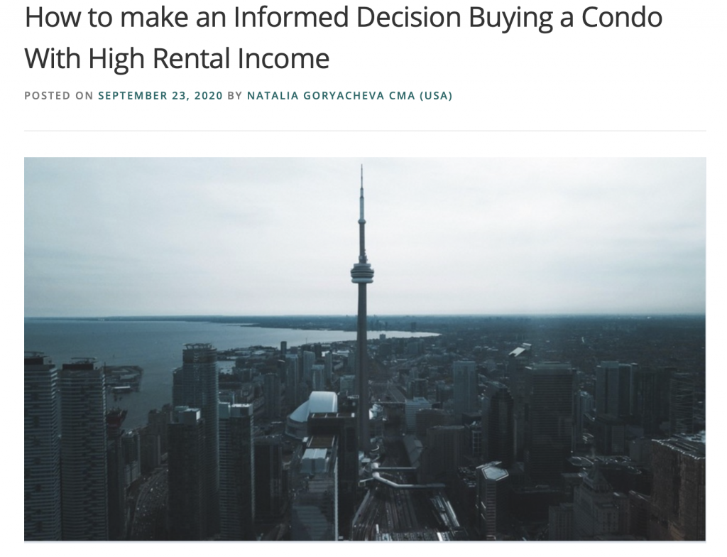 How to find Condos with a high rental income